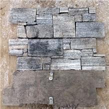 Black Loose Ledge Stacked Stone Veneer Claddings