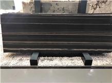 China Black Oscar Wood Grain Marble Slab Tile