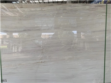 China Eurasian White Wood Marble Slab Tiles