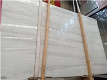 China Eurasian White Wood Marble Slab Wall Tiles