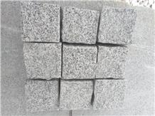 China New G603 Light Grey Granite Cube Stone Paver