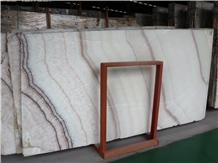 China Rainbow Onyx Slabs Tiles Cut-To-Size