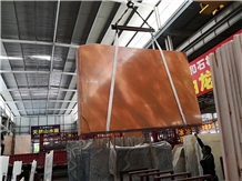 China Red Sunset Marble Slab Wall Floor Tiles