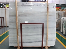Eurasian Wood Grain White/Golden Wood Marble Slabs