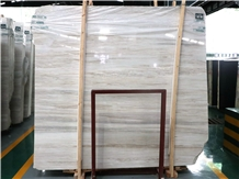 Eurasian Wood Grain White Wood Marble Classic Slab