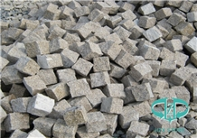 G682 Granite Cobbles with Natural Face