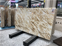 Guangxi Yellow Ice Jade Marble Stone Slabs