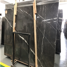 Iran Pietra Grey Grafit Marble Flooring Slabs Tile