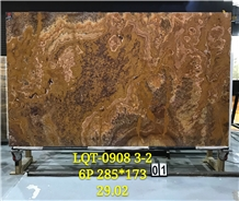 Laminated Tranlusent Red Tiger Onyx Slabs Tiles