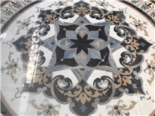 Marble Waterjet Pattern Floor Lobby Use