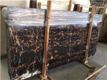 Pakistan Black Leopardo Marble Slab Tile Polished