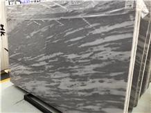 Twilight Grey Marble Slab, Luxury Gray