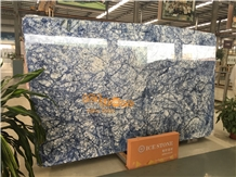 White and Blue Marble Slabs Tiles Walling Tile