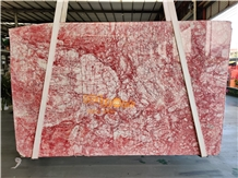 White and Red Marble Slabs Tiles Walling Tile