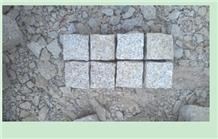 Yellow Rustic Granite Cube Paving Cobble Stone