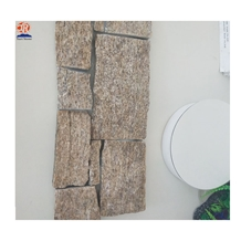 Cheap Yellow Color Natural Slate Cultured Stone