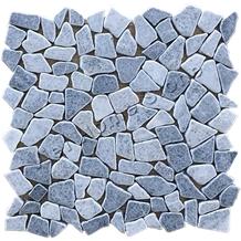 Black, White Pebble Marble Mosaic