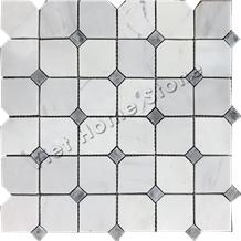 Carrara Polished Marble Mosaic Tile