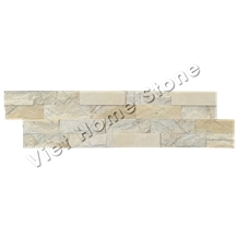 Mixed Chip Honed Yellow Marble Wall Cladding Veneer