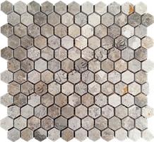 Polished Hexagon Mosaic Bathroom