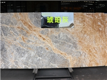 Amber Grey Gold Marble Slabs&Tiles Cut-To-Size