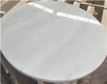 Natural White Marble Round Counterops Table Tops