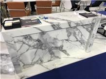 Carrara Nano Glass Stone Commercial Countertops