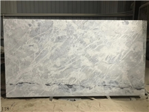 Arctic Ocean White Marble Light Grey Vein Cladding