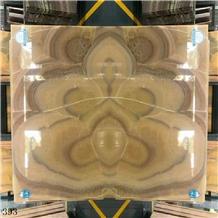 Golden Peach Jade Yellow Onyx Wall Cladding Tiles