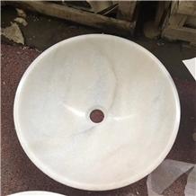 Guangxi White Marble Toilet Stone Lavabo Sinks