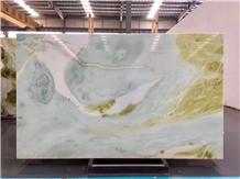 Pilbara Green Wave Jade Marble for Vanity Table