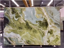 Pilbara Green Wave Marble for Bar Top Table Use