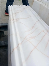 Red Line White Jade Marble Window Frame Moulding