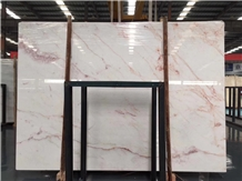 Usak Pink White Marble Pembe Lotus for Wall Floor