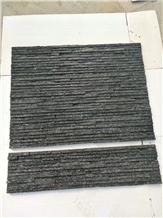 Black Quartzite Cultural Stone Narrow Wall Stone
