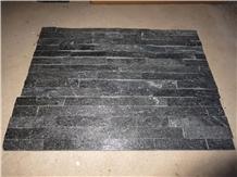 Black Quartzite Split Face Culture Stone