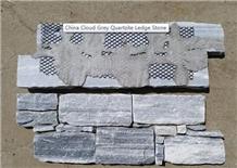 S Cut Blue Quartzite Thick Building Stone Wall