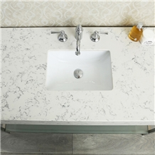 Artificial Bianco Carrara White Quartz Bath Tops