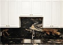 Brasil Titanium Gold Granite Kitchen Countertops