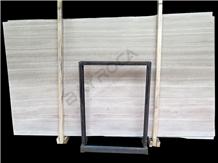 Chenille White Wooden Marble Slabs Limestone Slabs