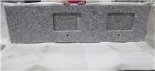 China Pauline Grey Granite Customized Vanity Tops