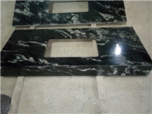 China Titanium Cosmos Black Granite Kitchen Tops