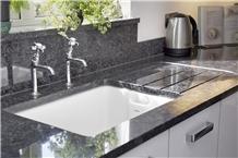 India Steel Grey Polished Granite Countertops