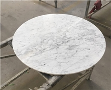 Natural Bianco Carrara White Marble Table Tops