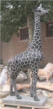 Giraffe Granite Natural Stone Garden Sculptures