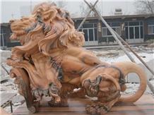 Lion Guardian Statue Natural Stone Sculpture Ideas