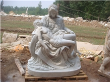 White Marble Natural Stone Human Sculptures