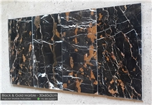 Black and Gold Marble Flooring Tile Pakistan