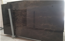 Dark Brown Marble Slabs & Tiles, Iran Brown Marble