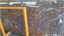 Red Conglomerate Marble Slabs